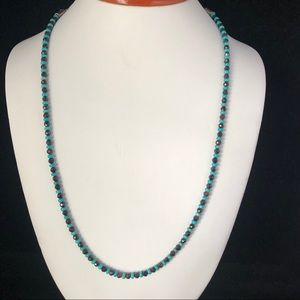 AD LOPEZ Turquoise and Chocolate Garnet Necklace